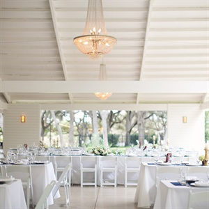 Modern White Reception Decor