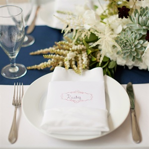 Pink Stamped Escort Cards
