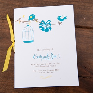 Love Birds Wedding Programs
