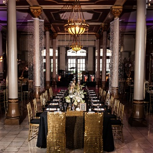 Black and Gold Reception Decor