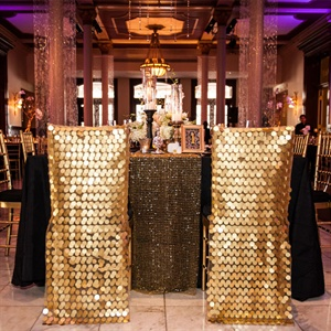 Gold Sequined Chair Covers