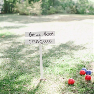 Bocce Ball and Croquet Wedding Entertainment