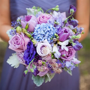 Purple Hued Bridesmaids Bouquet