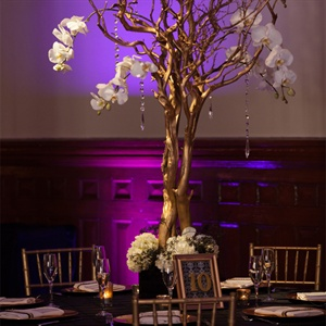 Branch Centerpiece with Hanging Crystals