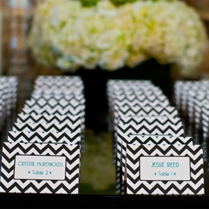 Chevron Escort Cards