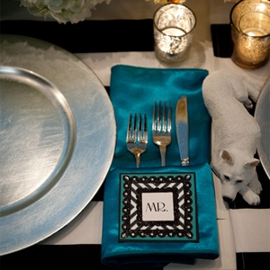 Peacock Colored Napkin