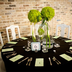 Earthy Lime Green Centerpiece