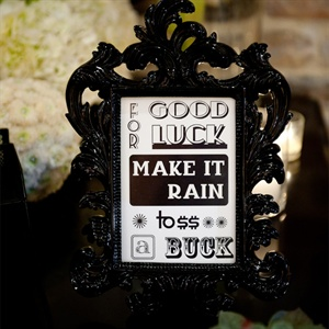 Good Luck Wedding Sign