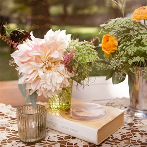 Vintage Dahlia Flower Arrangement