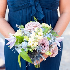 Lavender and Blue Pastel Bridesmaid Bouquet