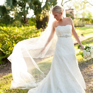 Lace Monique Lhuillier Gown