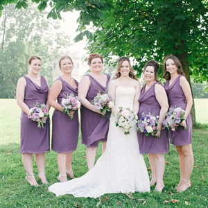 Purple Lela Rose by Dessy Bridesmaid Dresses
