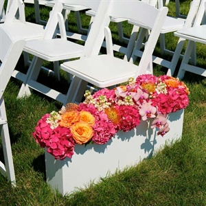 White Ceremony Flower Box