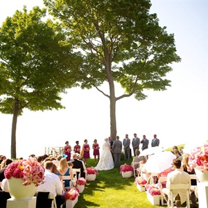 Private Lakefront Wedding Ceremony