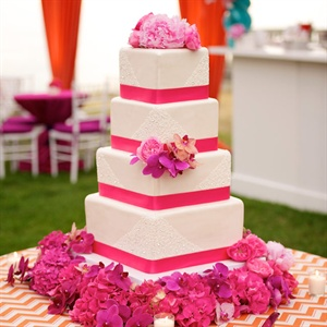 Four-Tier Square Wedding Cake