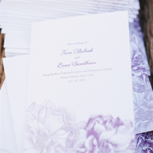 Purple Botanical Floral Designed Invitations