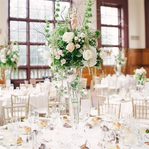 Tall Blush and Ivory Floral Centerpieces