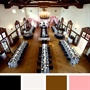 Black, White, Pink and Brown Color Palette