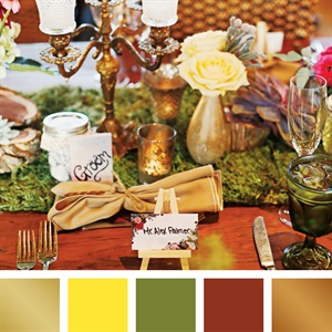 Gold, Yellow, Moss and Bronze Color Palette
