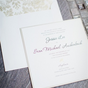 Ombre Script Wedding Invitations
