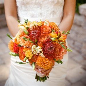 Orange, Yellow and Red Bouquet