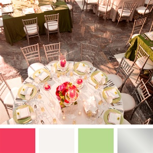 Pink, White and Mint Color Palette