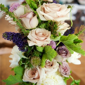 Lavendar and Lilac Hued Bridal Bouquet