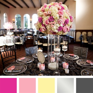 Pink, Yellow, Silver and Gray Color Palette
