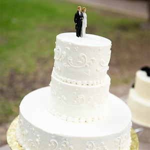 Round Buttercream Wedding Cake