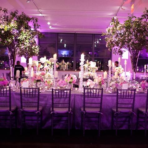 Pink And Purple Reception Decor