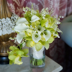 Light Green and White Bridal Bouquet