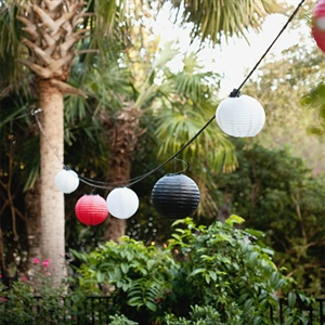Red, Black and White Paper Lanterns