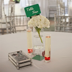 Modern Hydrangea Centerpiece Display