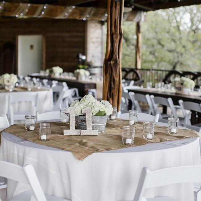 Mason Jar Wedding Reception Ideas: Burlap And Mason Jar Reception Decor