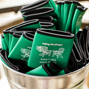 Green Koozie Favors