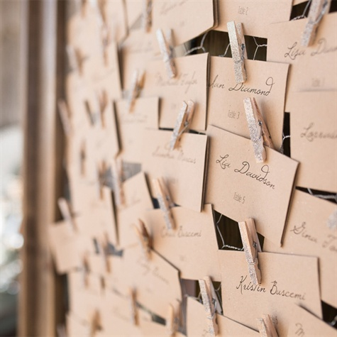 Clothespin Escort Cards