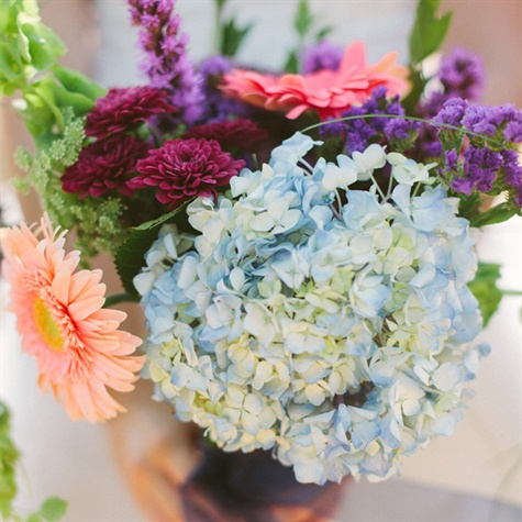 Hydrangea and Gerbera Daisy Bridal Bouquet
