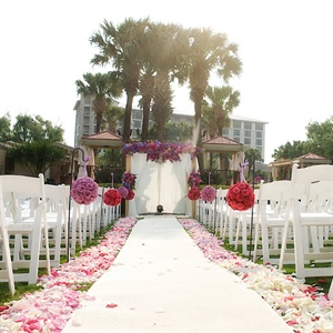 Flower Petal Lined Aisle