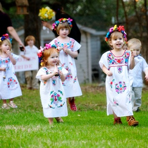 Colorful Flower Girl Outfits
