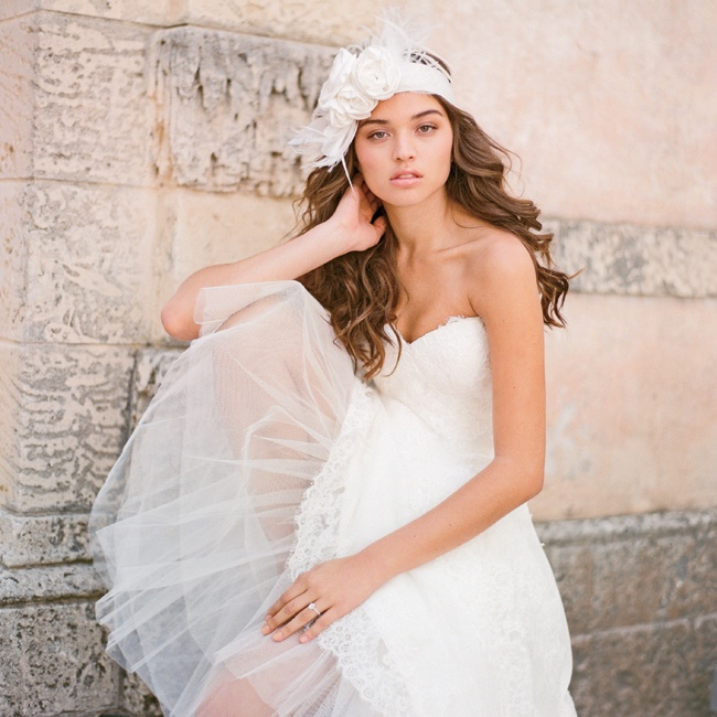 Lace can be edgy yet elegant if