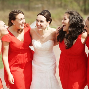 Vivid Red J. Crew Bridesmaid Dresses