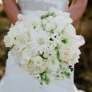 All White Bridal Bouquet