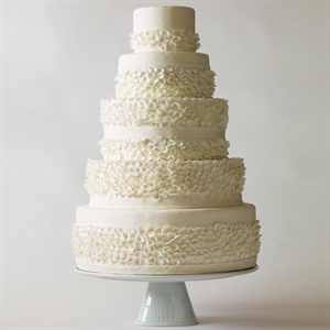 Always in good taste, classic white wedding cakes are the ultimate in understated elegance. Confections in shades of ivory feel especially fresh when adorned with details that add delicious depth to each slice, such as a gentle cascade of beautiful blooms, frilly and romantic 3-D texture, or just the right touch of sparkle. The best part? A white c ...