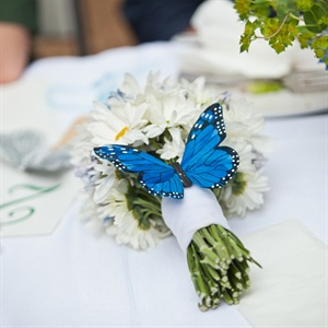 Blue Butterfly Accented Bouquet