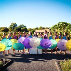 Purple and Teal Bridesmaid Dresses