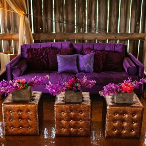 Purple and Gold Lounge