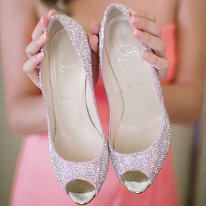 Crystal Christian Louboutin Bridal Shoes