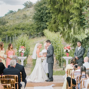 Outdoor Ceremony in Vineyard