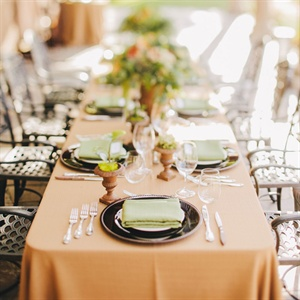 Tuscan Inspired Reception Decor