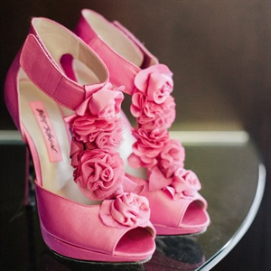 Pink Betsey Johnson Bridal Shoes